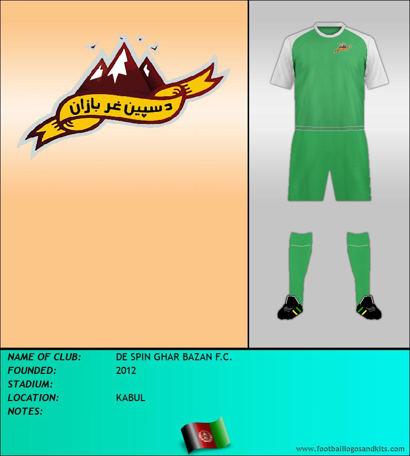 Logo of DE SPIN GHAR BAZAN F.C.
