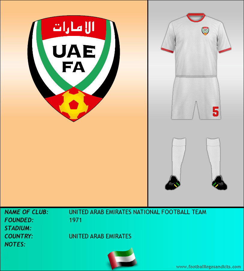 Logo of UNITED ARAB EMIRATES NATIONAL FOOTBALL TEAM