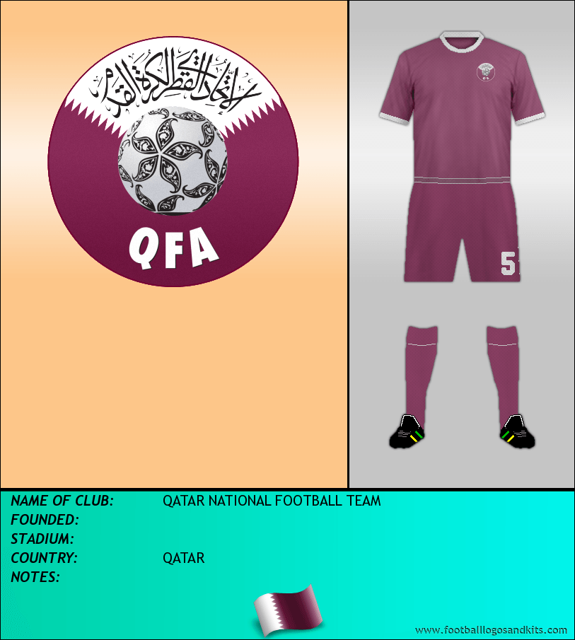 Logo of QATAR NATIONAL FOOTBALL TEAM