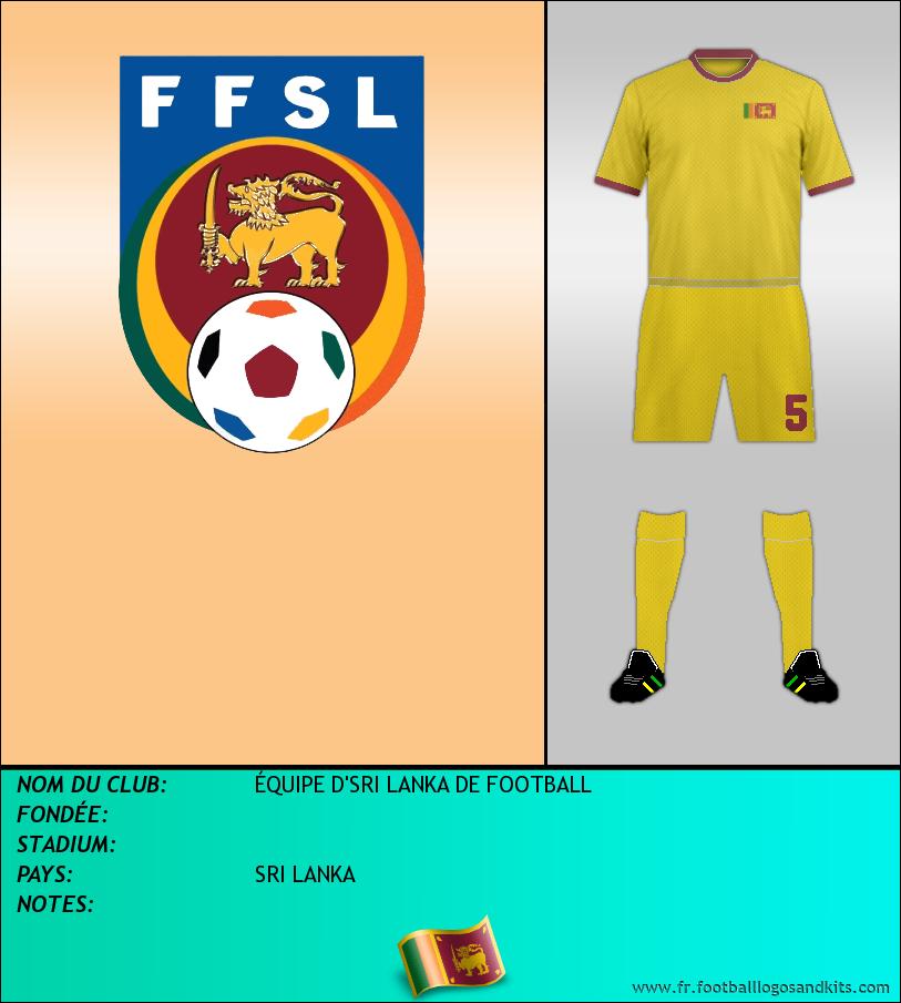 Logo de ÉQUIPE D'SRI LANKA DE FOOTBALL
