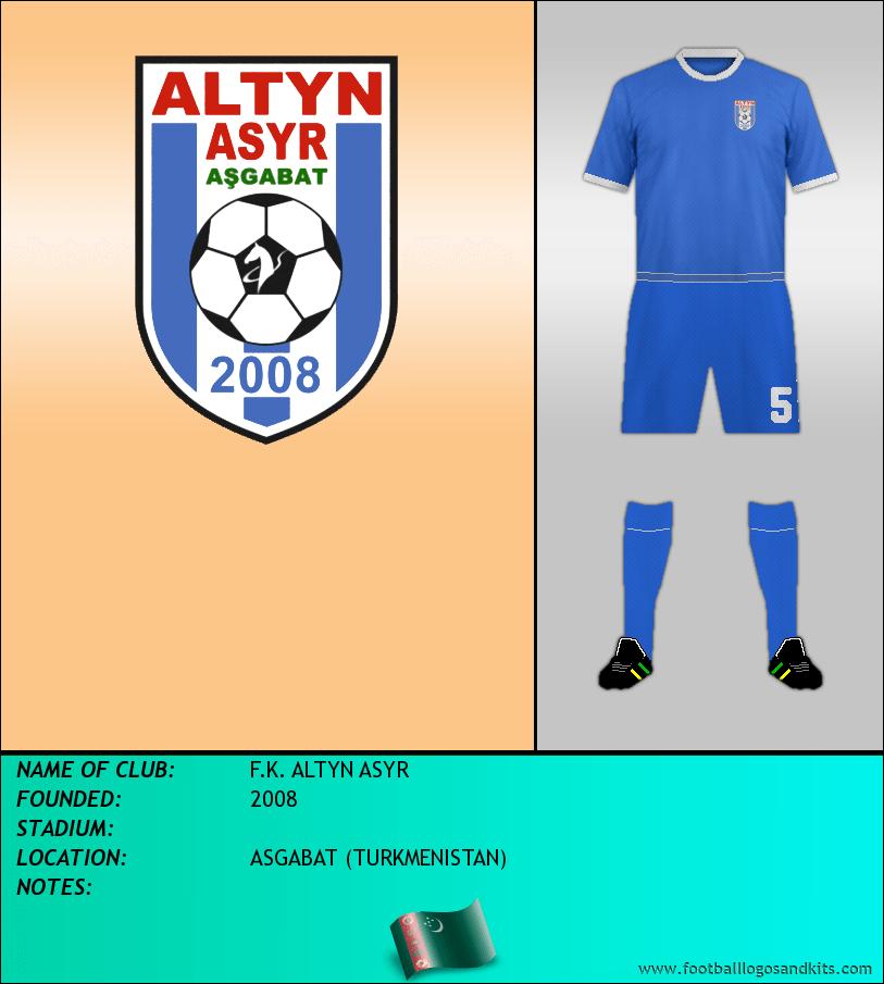 Logo of F.K. ALTYN ASYR