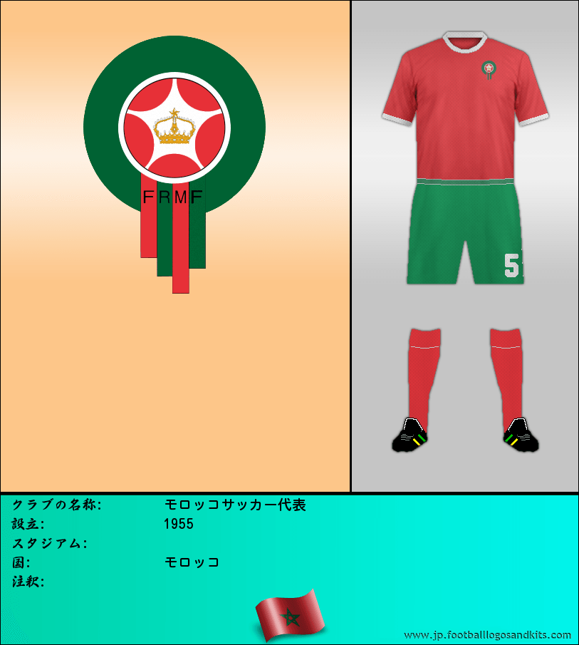 のロゴモロッコサッカー代表