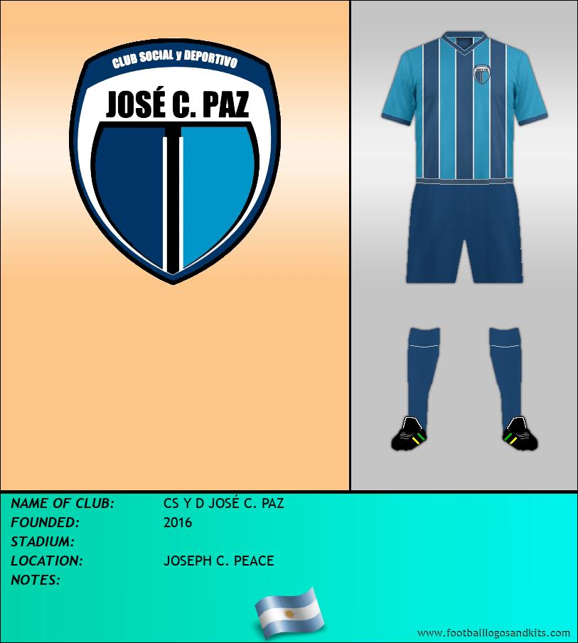 Logo of CS Y D JOSÉ C. PAZ