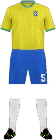 Kit BRAZIL NATIONAL FOOTBALL TEAM