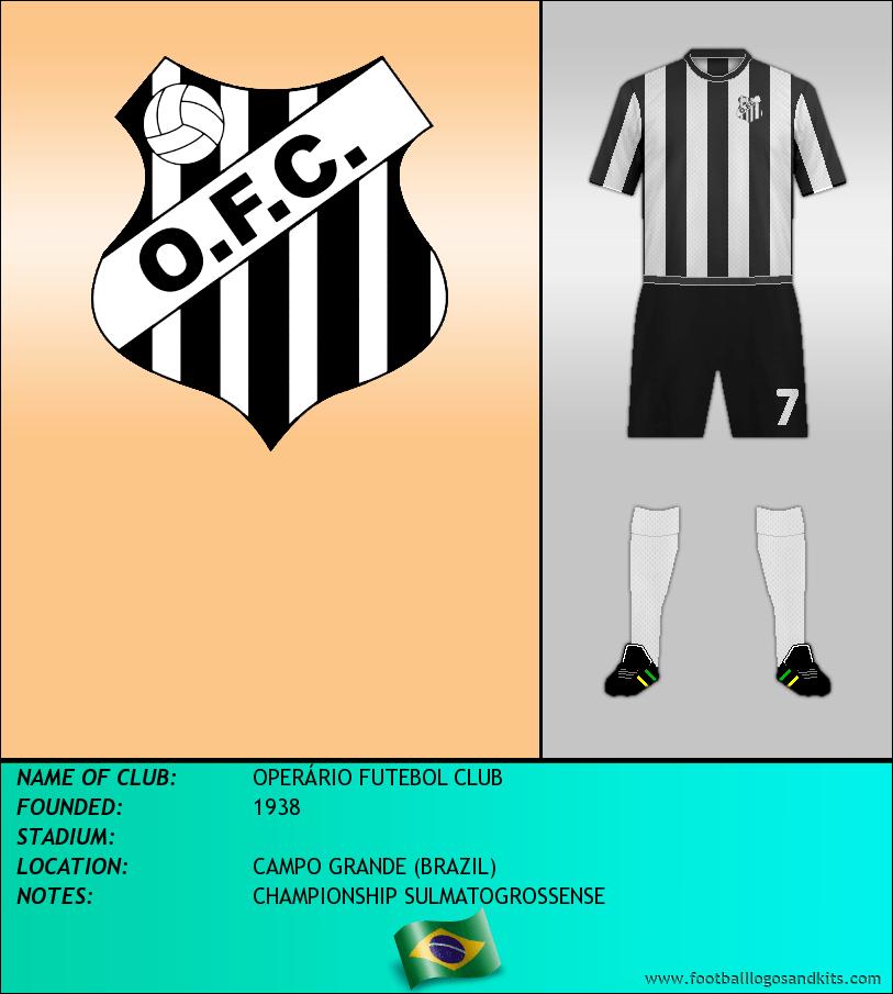 Logo of OPERÁRIO FUTEBOL CLUB
