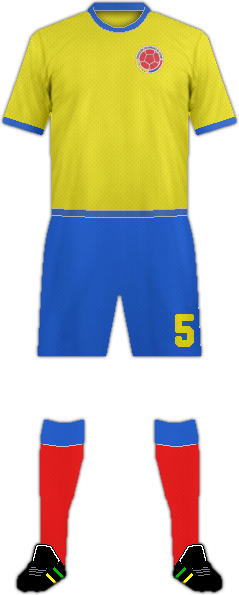 Kit COLOMBIA NATIONAL FOOTBALL TEAM