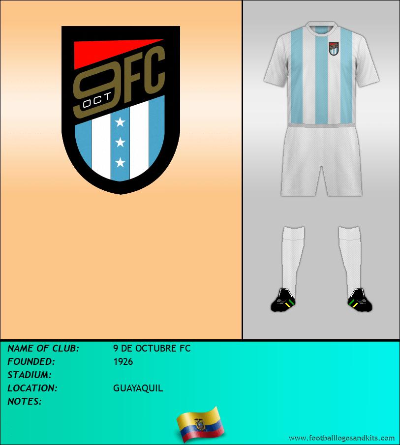 Logo of 9 DE OCTUBRE FC