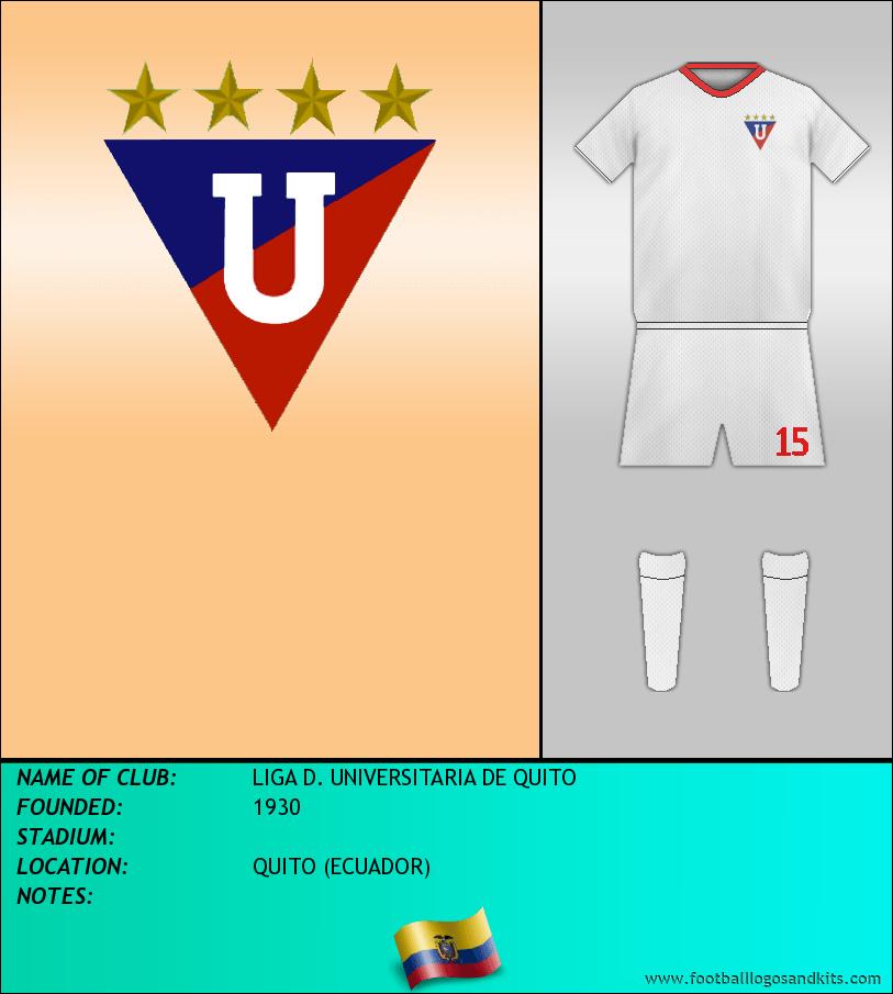 Logo of LIGA D. UNIVERSITARIA DE QUITO