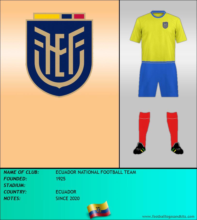 Logo of ECUADOR NATIONAL FOOTBALL TEAM
