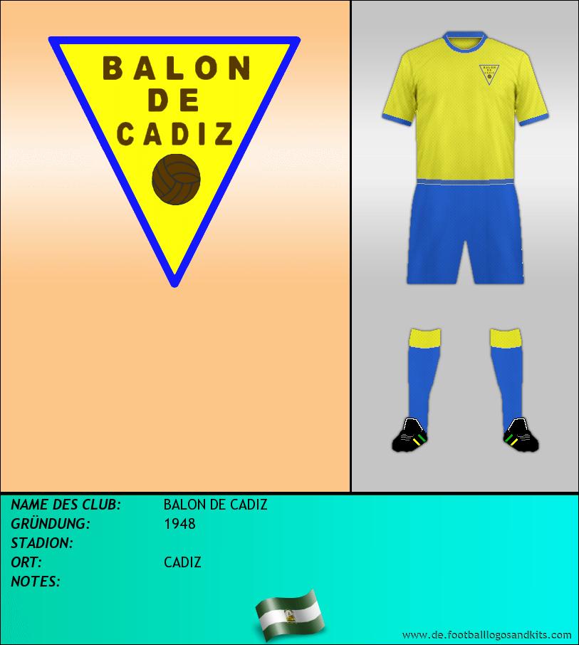 Logo BALON DE CADIZ