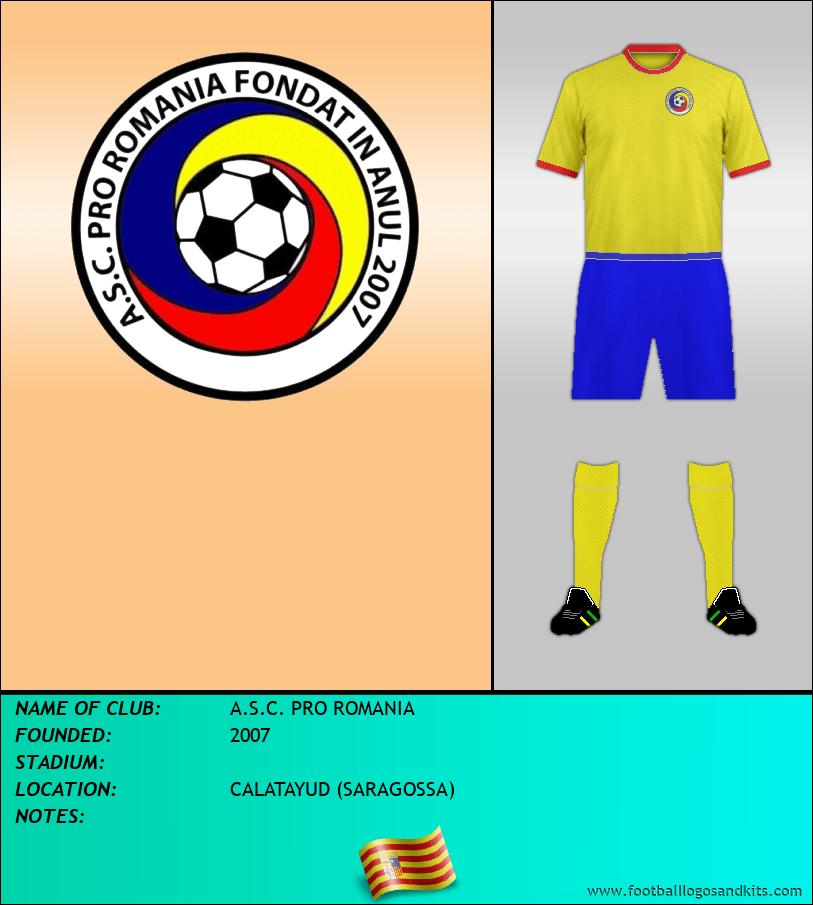 Logo of A.S.C. PRO ROMANIA