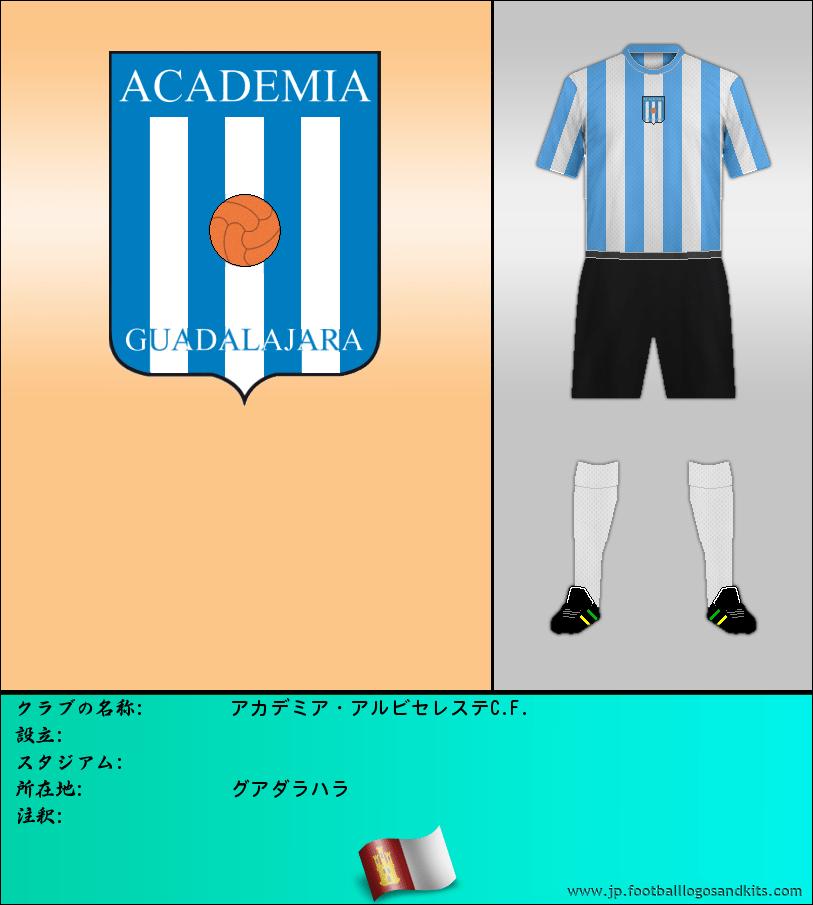 のロゴアカデミー ALBICELESTE C. F.
