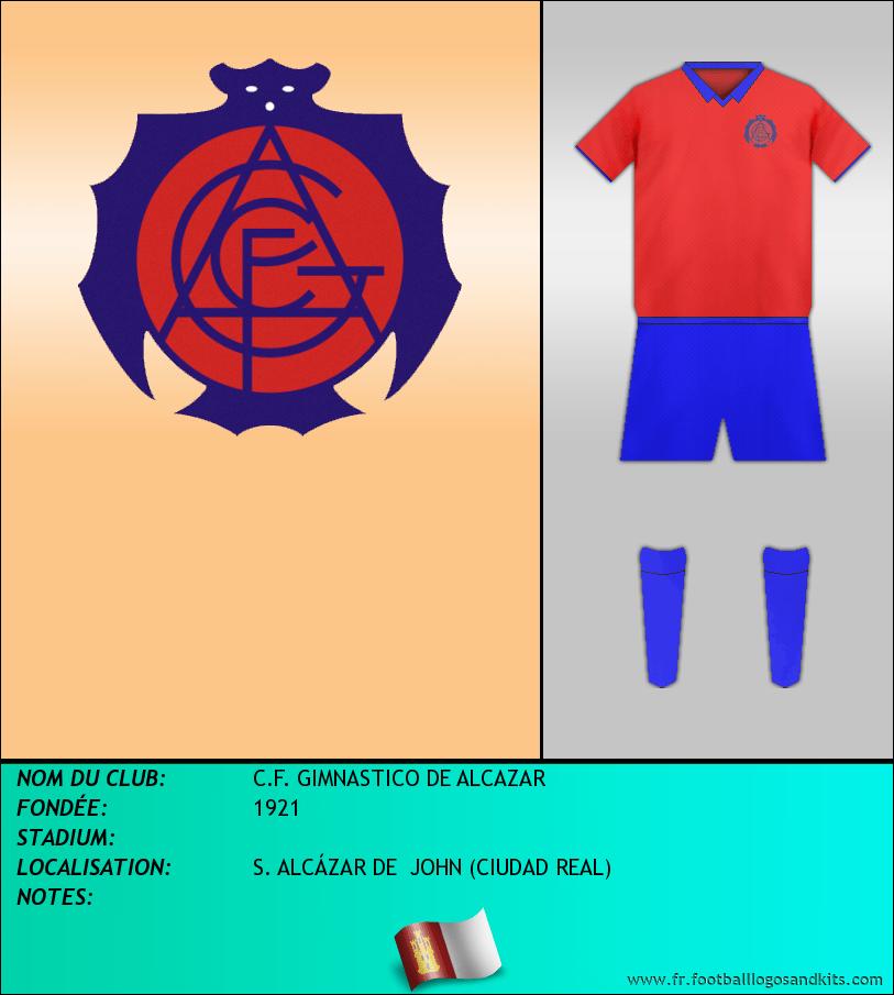 Logo de C.F. GIMNASTICO DE ALCAZAR