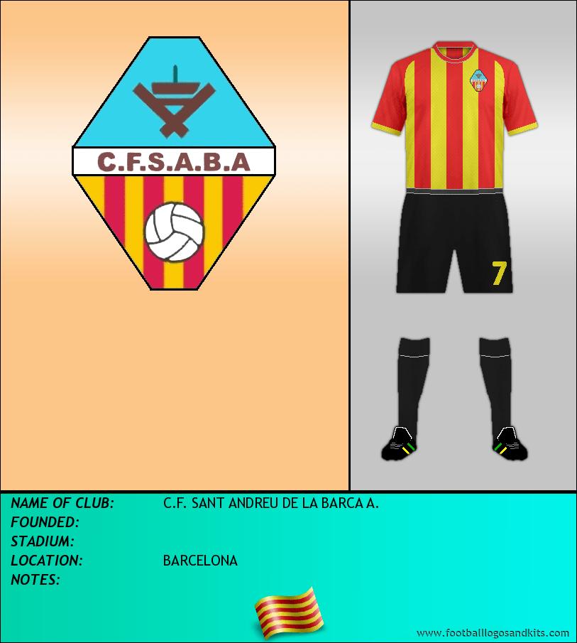 Logo of C.F. SANT ANDREU DE LA BARCA A.