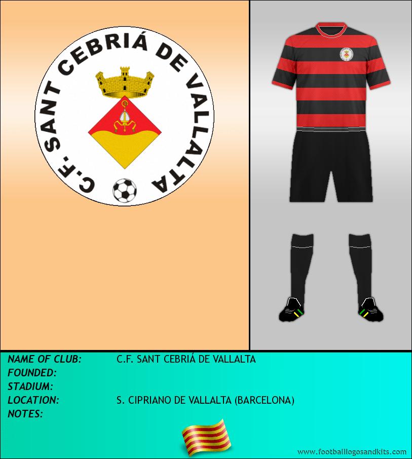Logo of C.F. SANT CEBRIÁ DE VALLALTA