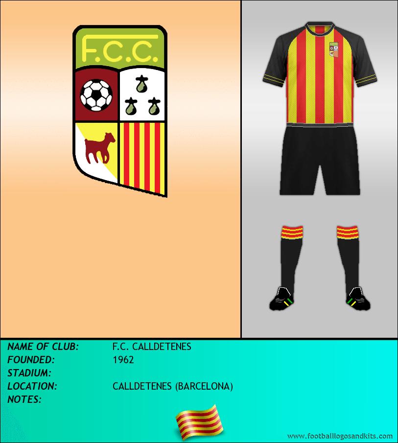 Logo of F.C. CALLDETENES