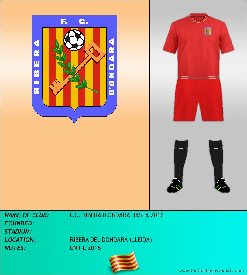 Logo of F.C. RIBERA D'ONDARA HASTA 2016