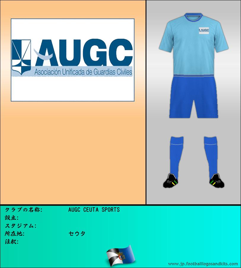 のロゴAUGC CEUTA SPORTS