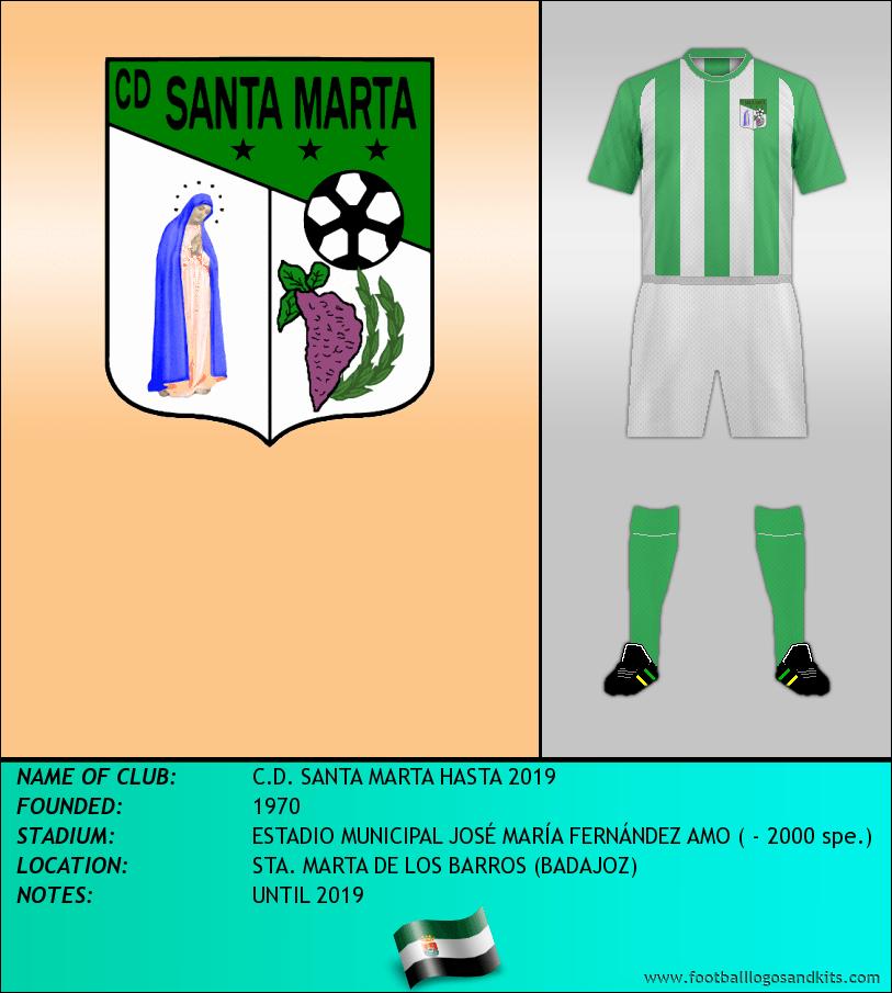 Logo of C.D. SANTA MARTA HASTA 2019
