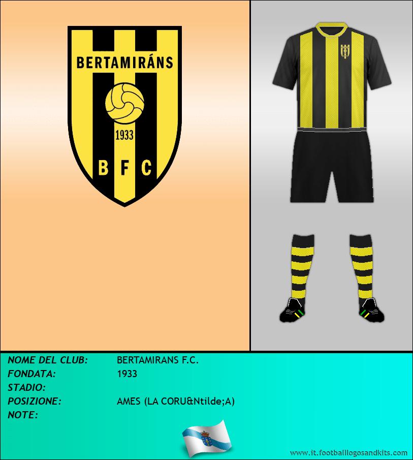 Logo di BERTAMIRANS F.C.