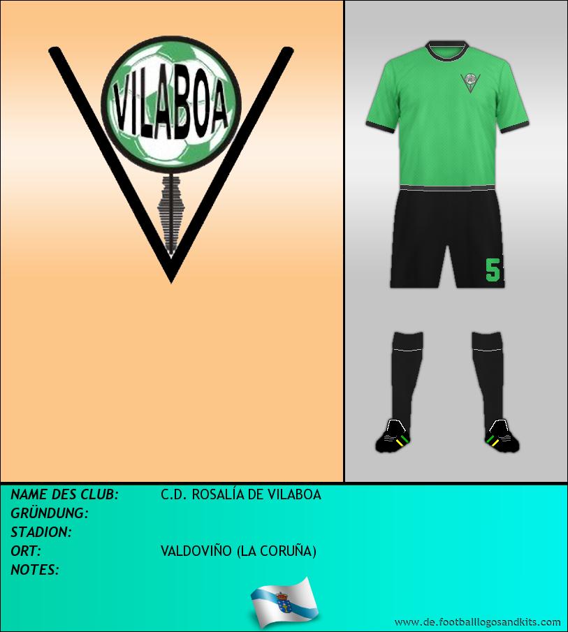 Logo C.D. ROSALÍA DE VILABOA