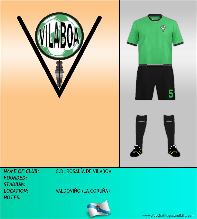 Logo of C.D. ROSALÍA DE VILABOA