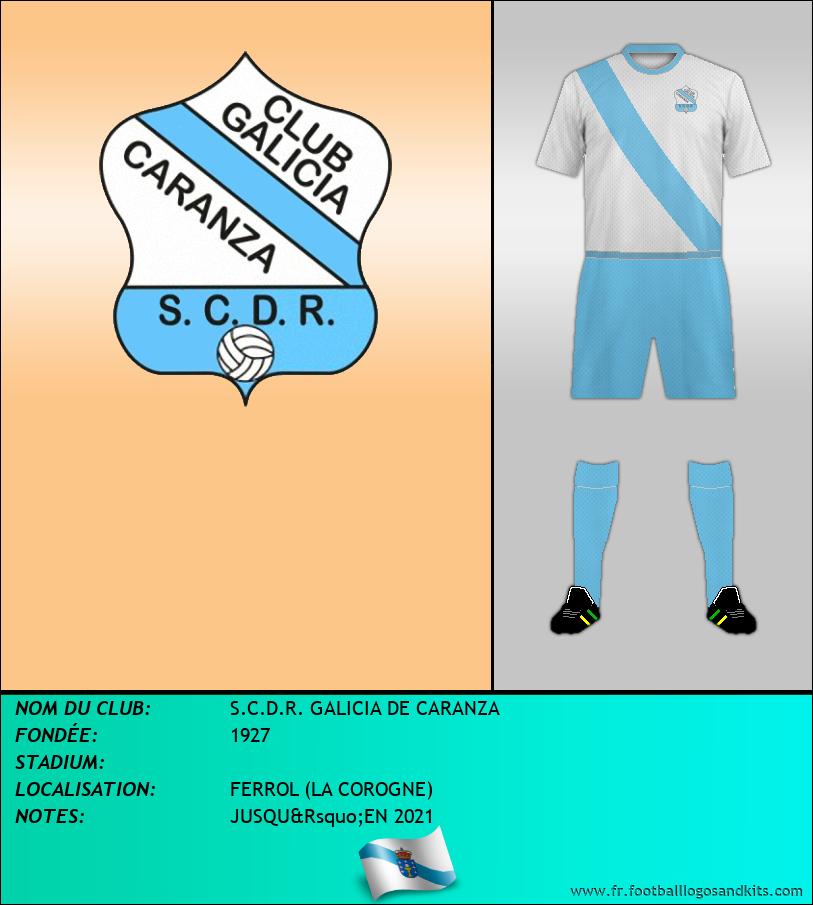 Logo de S.C.D.R. GALICIA DE CARANZA