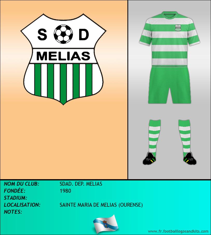 Logo de SDAD. DEP. MELIAS