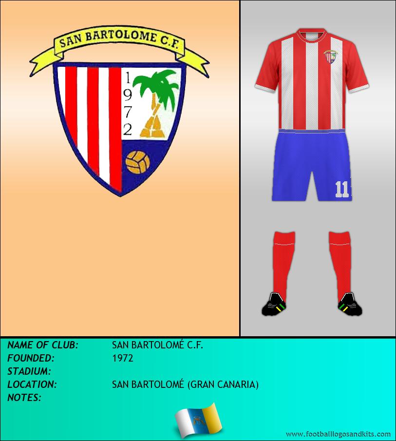 Logo of SAN BARTOLOMÉ C.F.