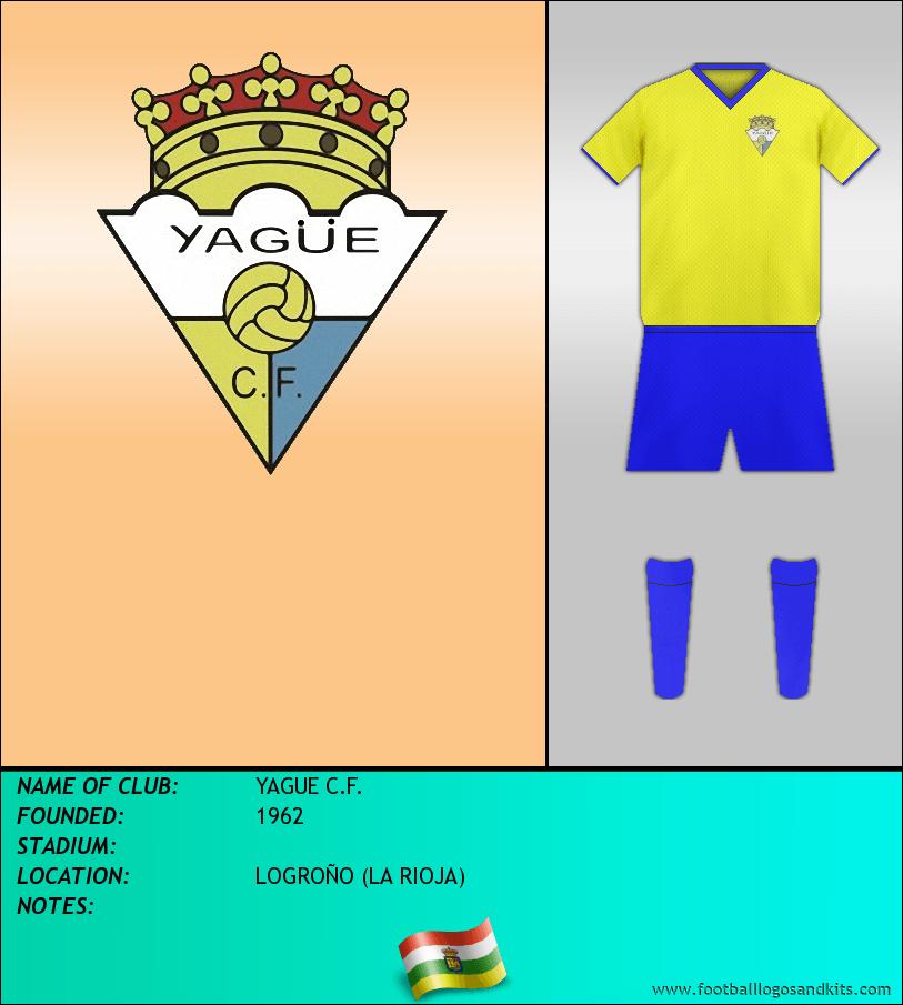 Logo of YAGUE C.F.
