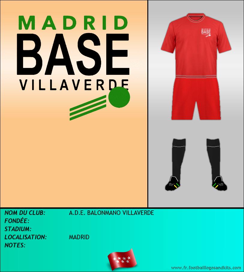 Logo de A.D.E. BALONMANO VILLAVERDE