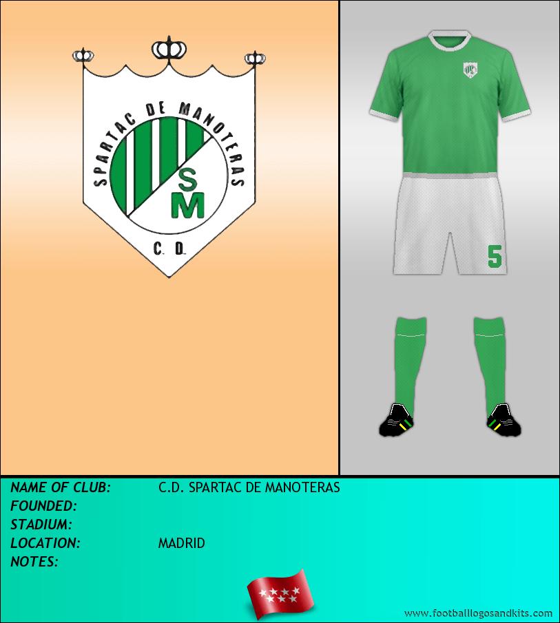 Logo of C.D. SPARTAC DE MANOTERAS