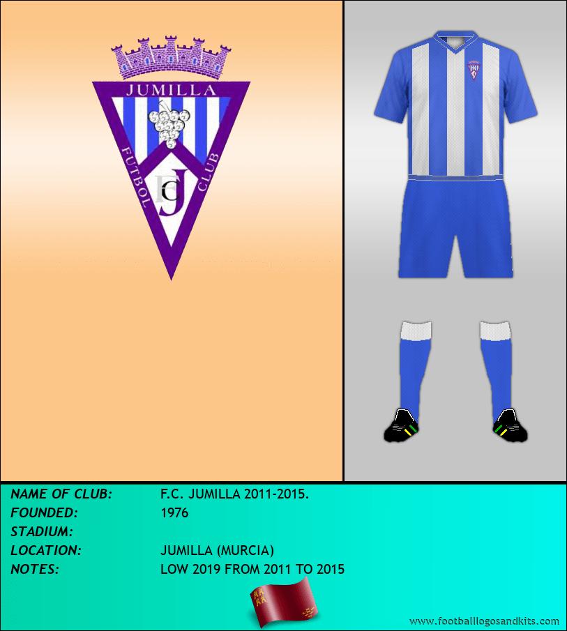 Logo of F.C. JUMILLA 2011-2015.