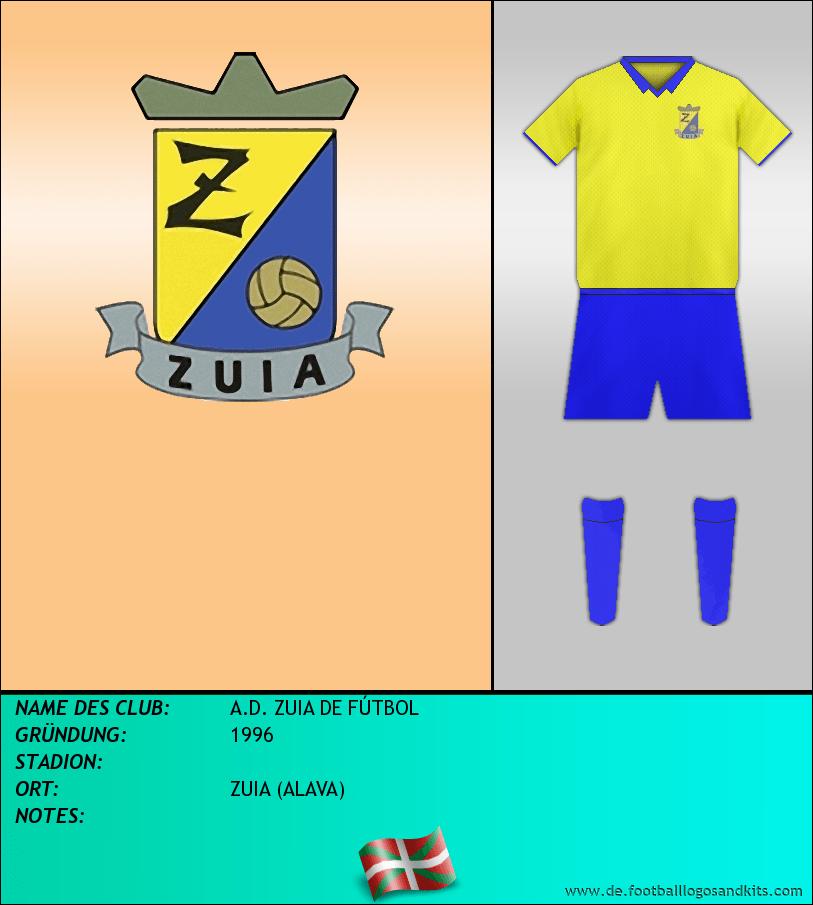 Logo A.D. ZUIA DE FÚTBOL