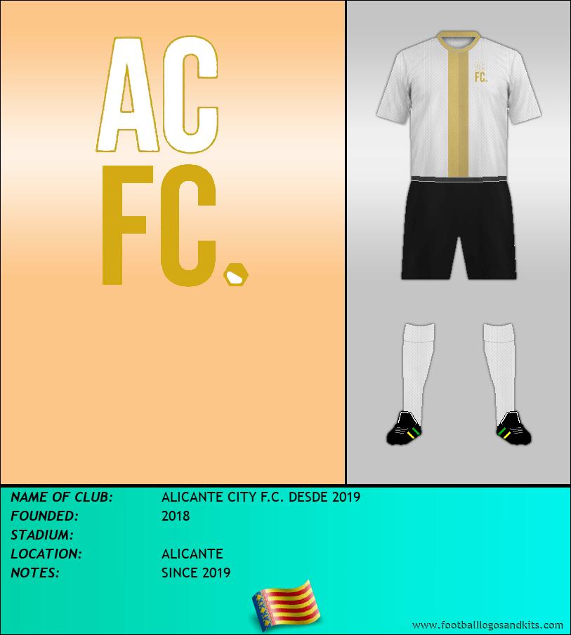 Logo of ALICANTE CITY F.C. DESDE 2019