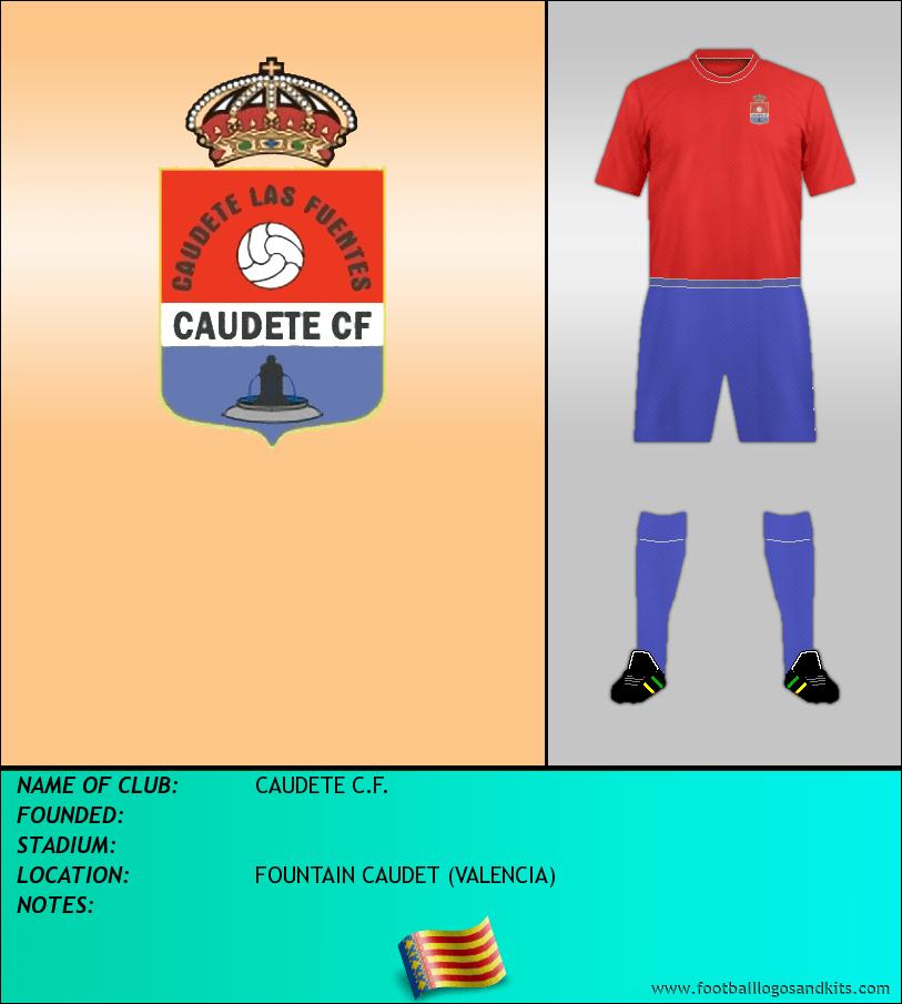 Logo of CAUDETE C.F.