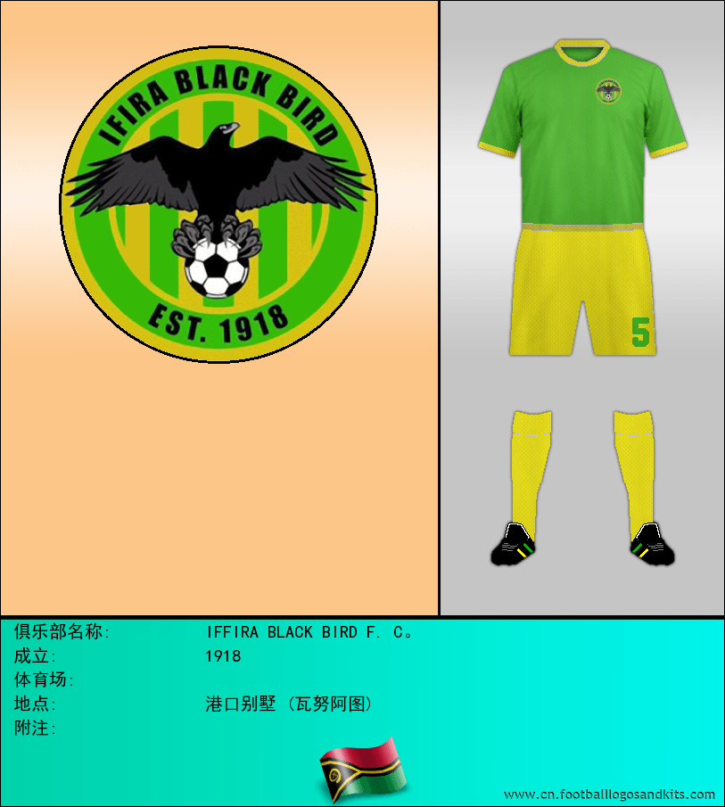 标志IFFIRA BLACK BIRD F. C。