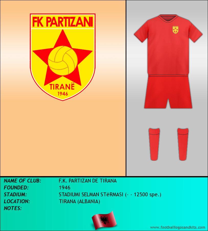 Logo of F.K. PARTIZAN DE TIRANA