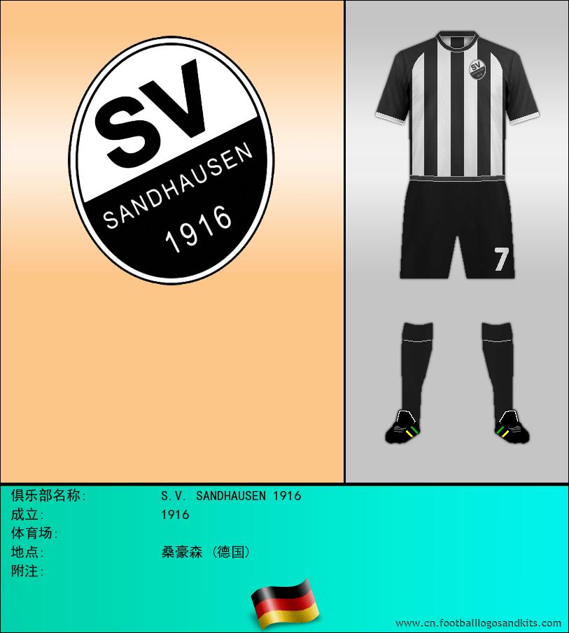标志S.V. SANDHAUSEN 1916