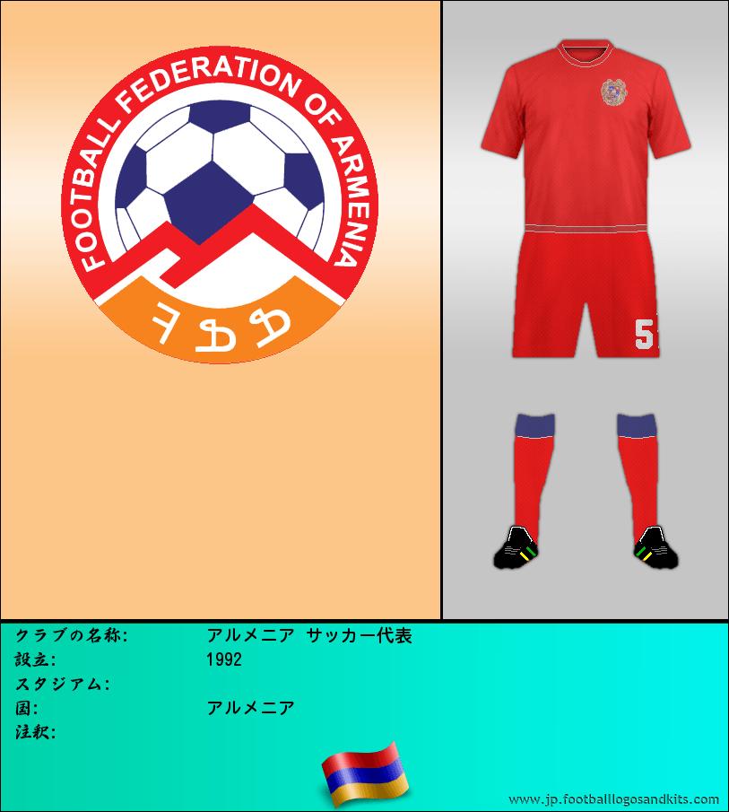 のロゴアルメニア サッカー代表