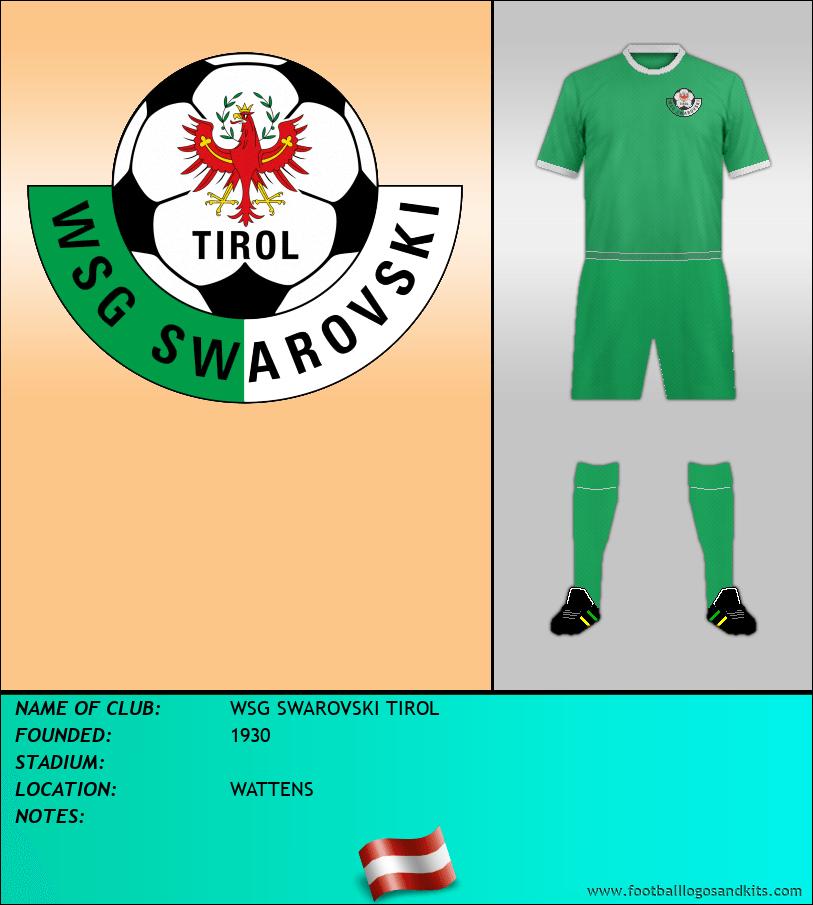 Logo of WSG SWAROVSKI TIROL
