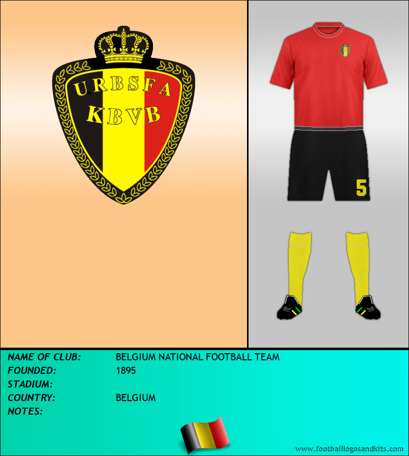 Logo of BELGIUM NATIONAL FOOTBALL TEAM