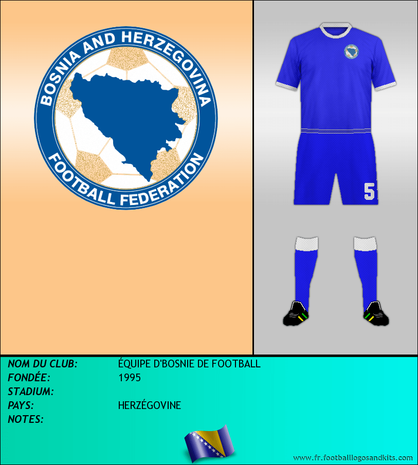Logo de ÉQUIPE D'BOSNIE DE FOOTBALL