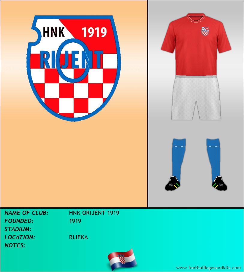 Logo of HNK ORIJENT 1919