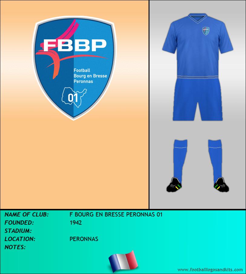 Logo of F BOURG EN BRESSE PERONNAS 01