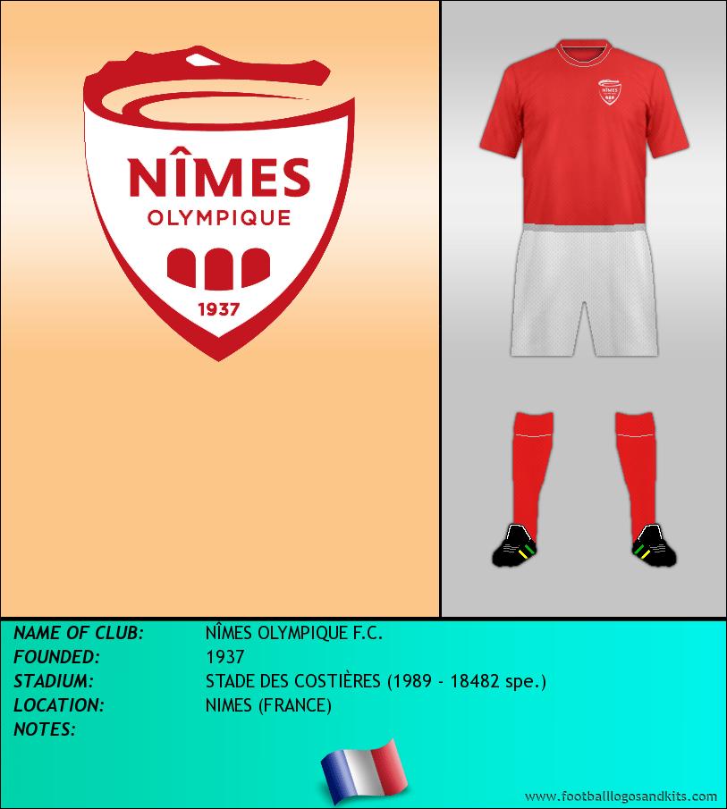 Logo of NÎMES OLYMPIQUE F.C.