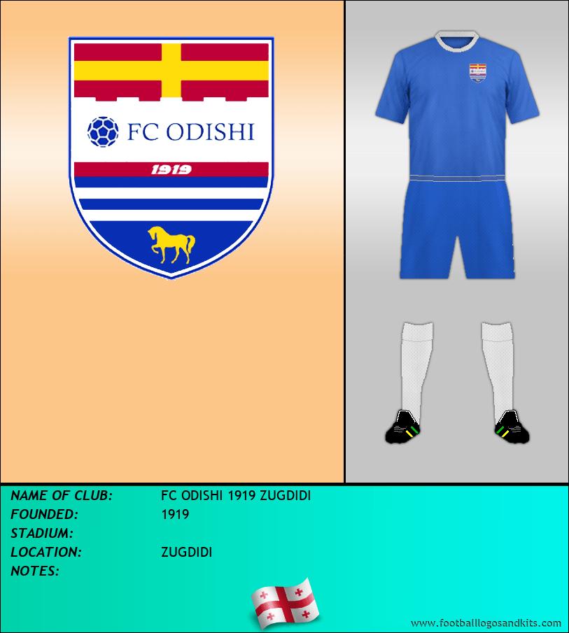 Logo of FC ODISHI 1919 ZUGDIDI