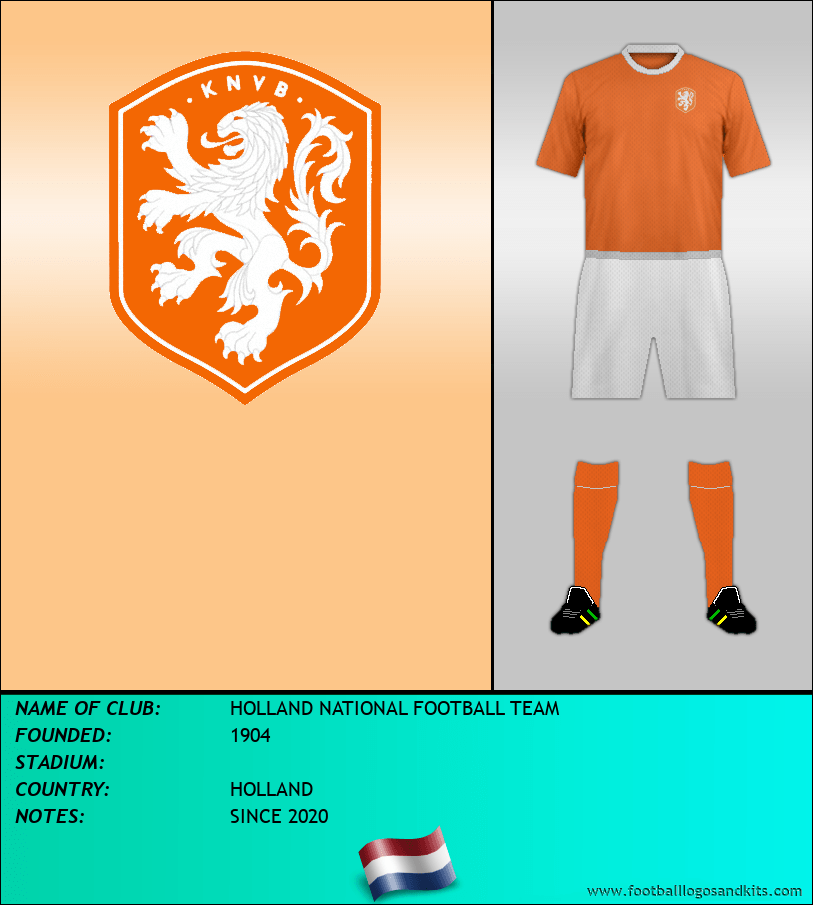 Logo of HOLLAND NATIONAL FOOTBALL TEAM
