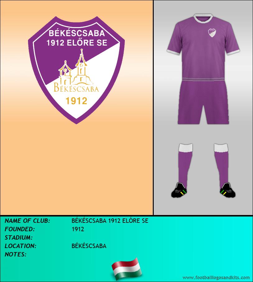 Logo of BÉKÉSCSABA 1912 ELÓRE SE