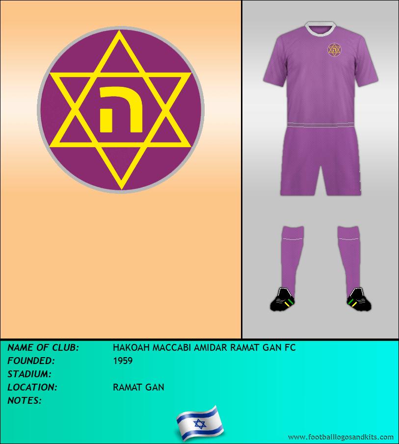 Logo of HAKOAH MACCABI AMIDAR RAMAT GAN FC